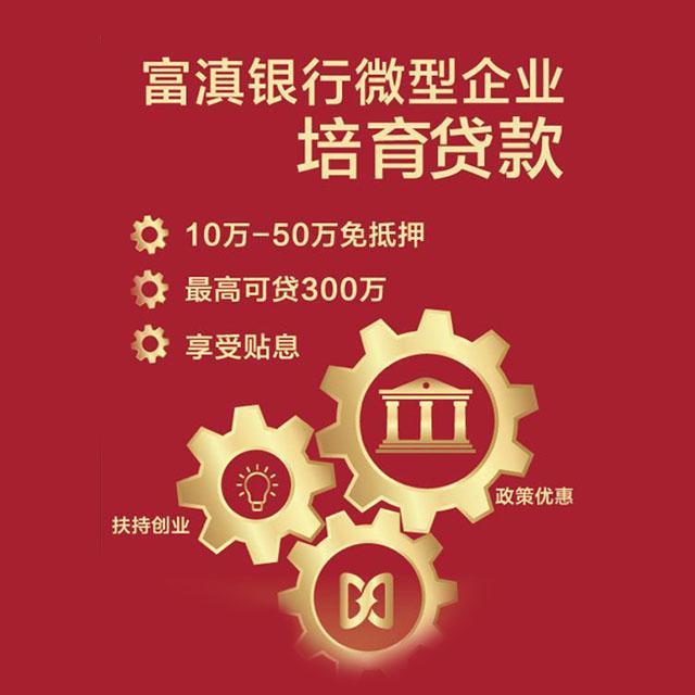 富滇银行微型企业培育贷款