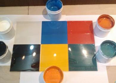 彩色玻璃涂膜技术