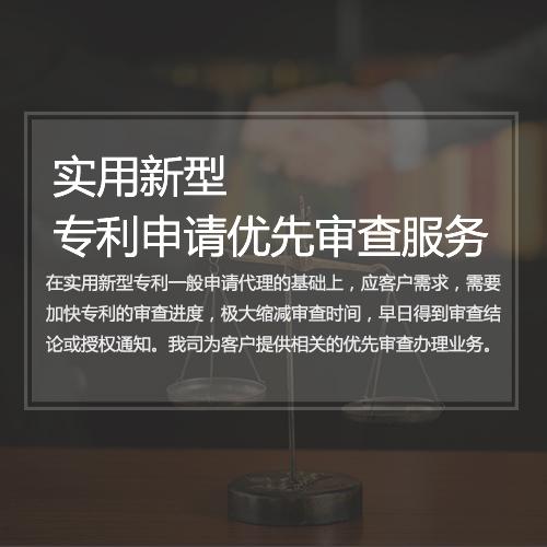 实用新型专利申请优先审查服务