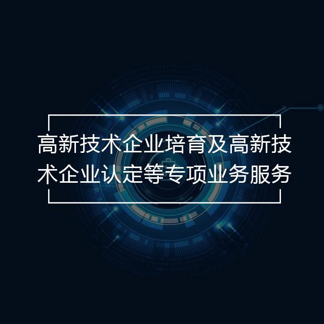 高新技术企业培育及高新技术企业认定等专项业务服务