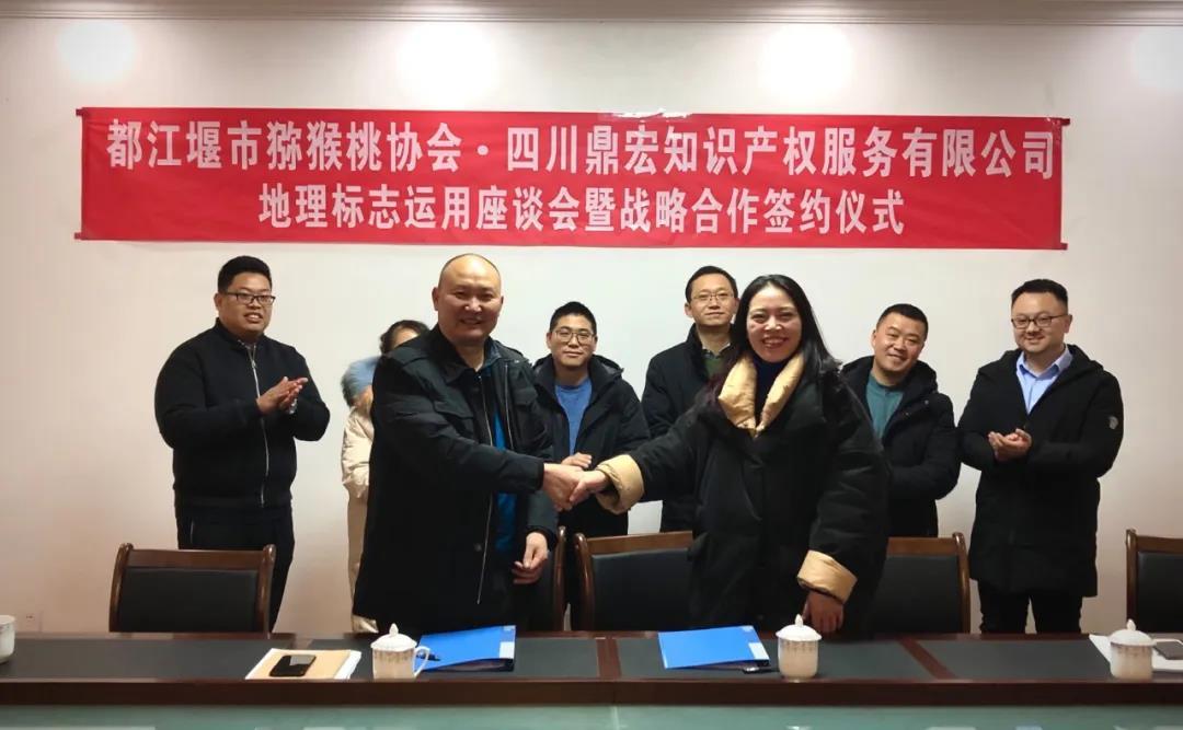 地理标志助力乡村振兴 鼎宏集团与四川省都江堰市猕猴桃协会达成战略合作